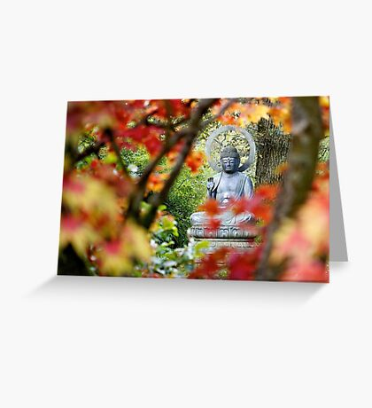 Buddha in Autumn Greeting Card