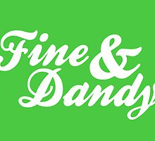 Fine & Dandy Green White Card by M  Bianchi