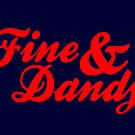 Fine & Dandy Navy Red Card by M  Bianchi