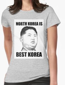 North Korea is Best Korea Womens Fitted T-Shirt