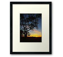 Enter the Night Framed Print