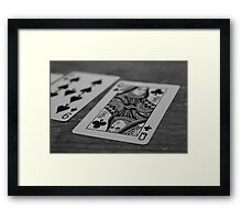 Cards on the table Framed Print