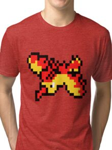 8 Bit Moltres Tri-blend T-Shirt