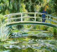 Art Giraffe- Water-lily Pond by Sundayink