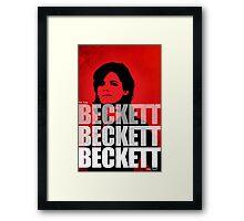 Beckett Beckett Beckett Framed Print