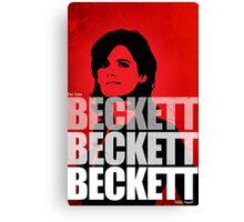 Beckett Beckett Beckett Canvas Print