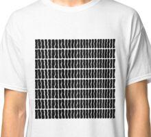 Modern White and Black Hand Drawn Pattern Classic T-Shirt