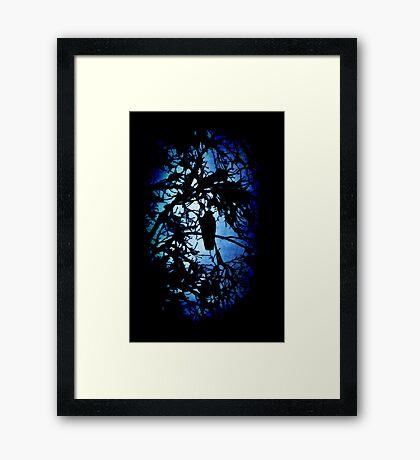 The Raven (dark) Framed Print