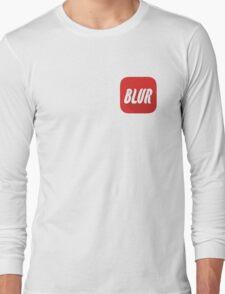 Blur RED Long Sleeve T-Shirt
