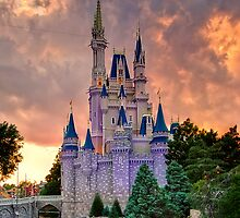 Cinderella Castle Sunset by Brett Kiger