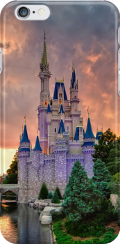 Cinderella Castle Sunset by Brett Kiger