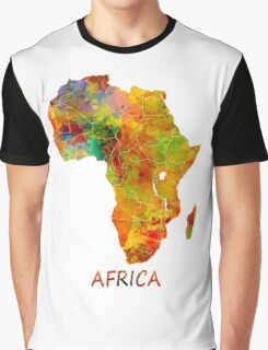 Africa map Graphic T-Shirt