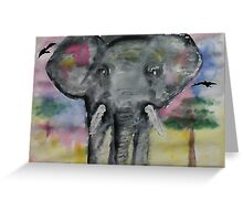 Elephant checking you out, watercolor Greeting Card