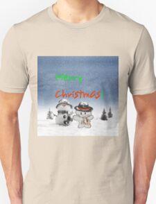 Cat Copys his Snow Man Friend T-Shirt