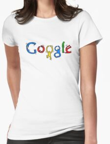 Keith Haring Google Womens Fitted T-Shirt