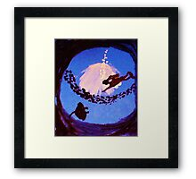 The diver, watercolor Framed Print