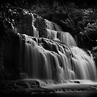 New Zealand Waterfall by lesslinear