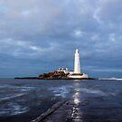 Dusk at St Mary's Lighthouse II by John Dunbar