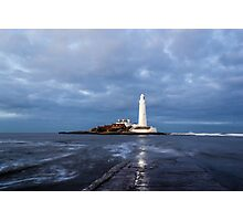 Dusk at St Mary's Lighthouse II Photographic Print