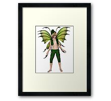 Christmas Fairy Elf Boy Framed Print