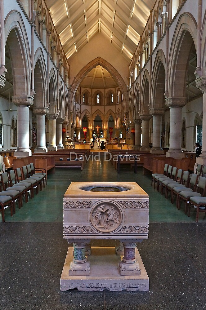 The Font, Cathedral of Saint Andrew by David Davies
