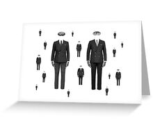 Men with masks Greeting Card