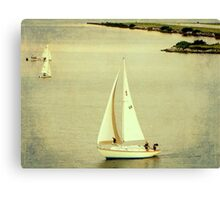 Lazy Day Sailing Canvas Print