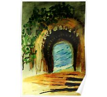 Path to the sea, watercolor Poster