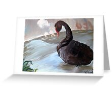 Like a Duck in Water Greeting Card