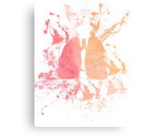 Paint Splattered Lungs Canvas Print