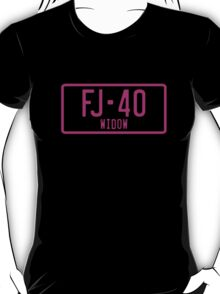 FJ40 Widow Logo Pink T-Shirt