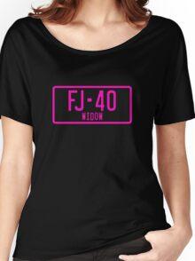 FJ40 Widow Logo Pink Women's Relaxed Fit T-Shirt