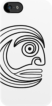 Tribal Face Sprial by Achim Klein