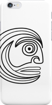 Tribal Face Sprial by Achim Klein