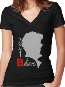 221B: Believe! Women's Fitted V-Neck T-Shirt