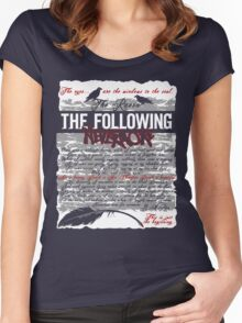 The Following:Nevermore Women's Fitted Scoop T-Shirt