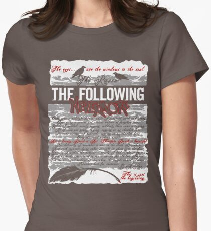 The Following:Nevermore Womens Fitted T-Shirt