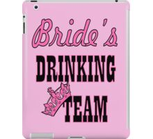 cute pink bride's drinking team bachelorette party iPad Case/Skin