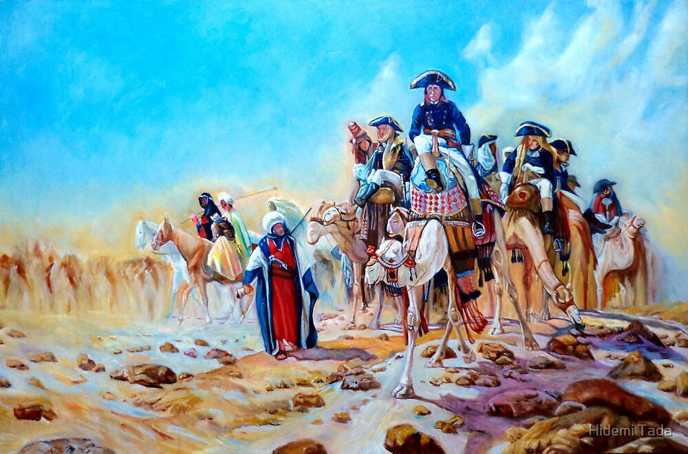 Napoleon in Egypt after Jean-Léon Gérôme by Hidemi Tada