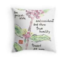 Japanese Beautyberry in Bloom Throw Pillow