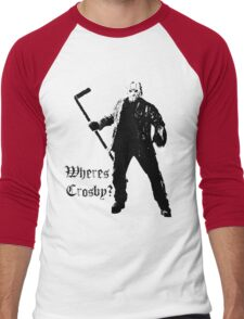 Jason is not a Crosby fan... Men's Baseball ¾ T-Shirt