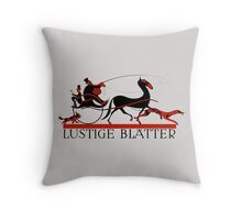 Retro vintage art Lustige Blaetter (Funny pages) Throw Pillow