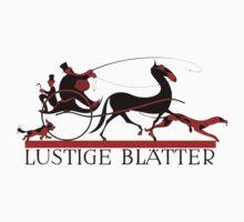 Retro vintage art Lustige Blaetter (Funny pages) Kids Tee