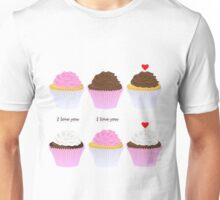set of cupcakes Unisex T-Shirt