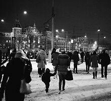 Snow, Amsterdam by Jip v K