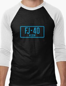 FJ40 Widow Logo Blue Men's Baseball ¾ T-Shirt