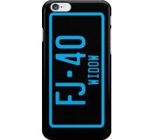 FJ40 Widow Logo Blue iPhone Case/Skin