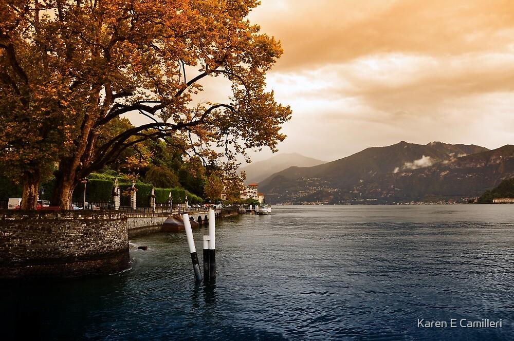 Autumn at Lake Como by Karen E Camilleri