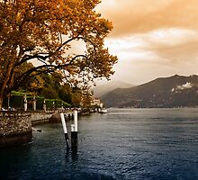 Autumn at Lake Como by Karen E Camilleri
