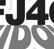 FJ40 Widow Shadow Sticker